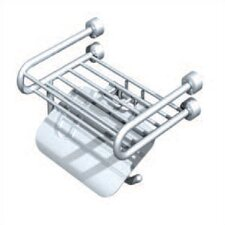 Tivoli Wall Mounted Soap Rack with Paper Holder and Lid