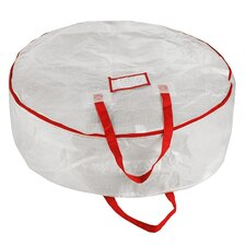"Deluxe Holiday Christmas Wreath Storage Bag for 30"" Wreaths"