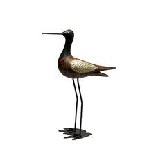 Shore Bird Sandpiper Figurine with Head Up