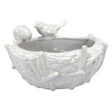 Luyo Oval Bird Vase