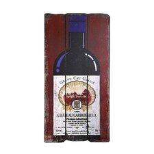 Bordeaux Wine Bottle Graphic Art Plaque