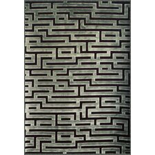 Napa Seafoam/Charcoal Maze Area Rug
