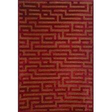 Napa Red/Medium Brown Maze Area Rug