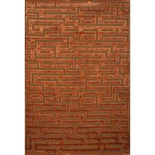 Napa Rust/Medium Brown Maze Area Rug