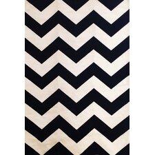 Sonoma Black/Ivory Chevron Rug