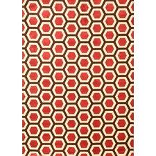 Sonoma Cranberry Honeycomb Rug