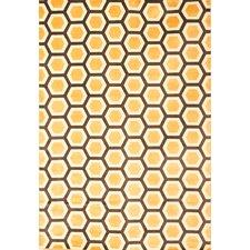 Sonoma Tangerine Honeycomb Area Rug