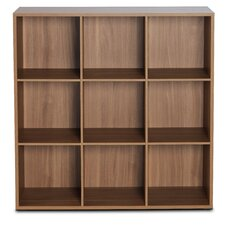 "3 Row and 3 Column Thick Framed 42.74"" Cube Unit Bookcase"
