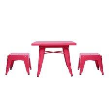 Lemonade 3 Piece Table & Stool Set