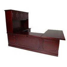 Brunswick U-Shape Executive Desk with File Drawer