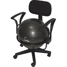 Sivan® Health and Fitness Adjustable Back Balance Ball Fit Chair with Arm Rests