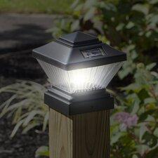 2-Pack Solar Powered LED 1 Light Fence Post Cap