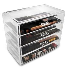 Acrylic 4 Drawer Makeup Organizer with Removable Drawers