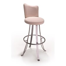 "Buzz 24"" Swivel Bar Stool with Cushion"