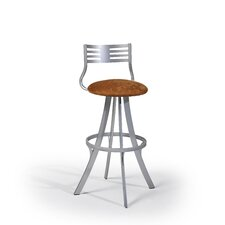 "Lem 24"" Swivel Bar Stool with Cushion"