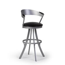 "Piaf 24"" Swivel Bar Stool with Cushion"