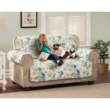 English Floral Loveseat Slipcover