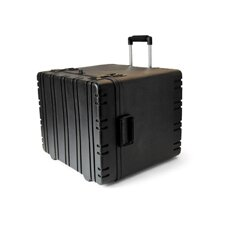 "12"" Rolling Rotational Mold Foam Filled Case in Black"