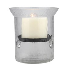 Rustic Retreat Glass Hurricane Candle Holder