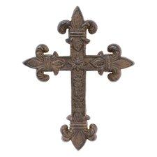 Accents of Faith Fleur Cast Cross Wall Decor