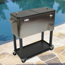 Stainless Steel Cooler with Casters