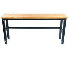 Height Adjustable Wood Top Workbench