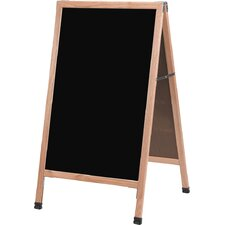 A-Frame Sidewalk Melamine Free Standing Chalkboard