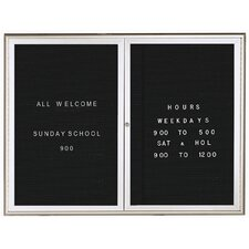 Enclosed Letter Board