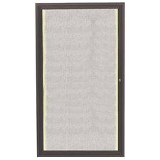 Enclosed Wall Mounted Bulletin Board, 3' H x 2' W
