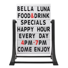 Rocker Frameless Double Sided Sidewalk Sign