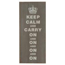 Typografische Kunst Keep Calm