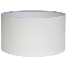 45 cm Trommel-Lampenschirm Poly Cotton aus Metall
