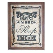 Gerahmtes Grafikdruck Breakfast in Bed