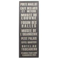 Schild French Words Typografische Kunst