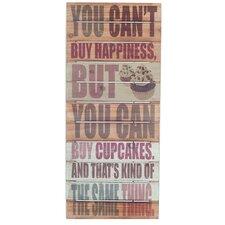 Schild Cupcake Oblong Typografische Kunst