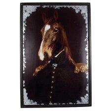 Gerahmter Grafikdruck Military Horse