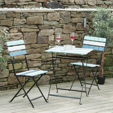 Tahiti Folding 2 Seater Bistro Set