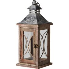 Kenza Wood/Glass Lantern