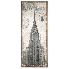Leinwandbild Natural Jute New York, Grafikdruck