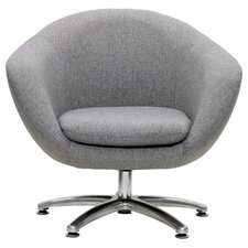Overman Five Prong Base Comet Barrel Chair