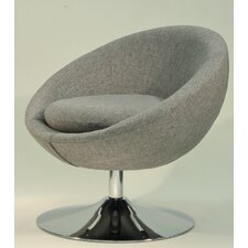 Overman Disc Base Astro Barrel Lounge Chair