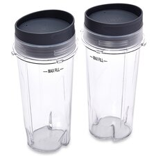 16-Ounce Single Serve Cups with Lids (Set of 2)