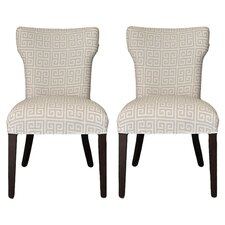Kasumi Chain Wingback Cotton Side Chair (Set of 2)