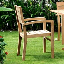 Venice Stacking Dining Arm Chair (Set of 4)