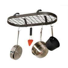 Low Ceiling Oval Hanging Pot Rack