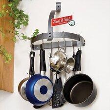RACK IT UP! Half Moon Wall Mounted Pot Rack