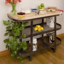 Premier Kitchen Cart with Butcher Block Top