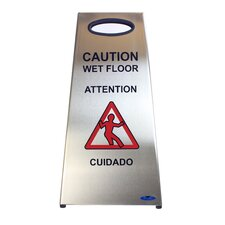 Stainless Steel Wet Floor Caution Sign