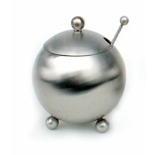 12 Oz Footed Sugar Bowl with Spoon in Satin