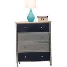 Universal Youth Chest in Navy and Silver